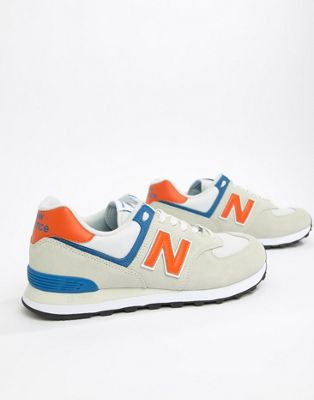 New Balance 574 Trainers In Grey ML574SMG