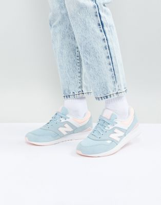 New Balance - 697 - Baskets - Bleu et rose