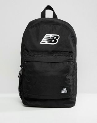 New Balance logo backpack in black 500387-001