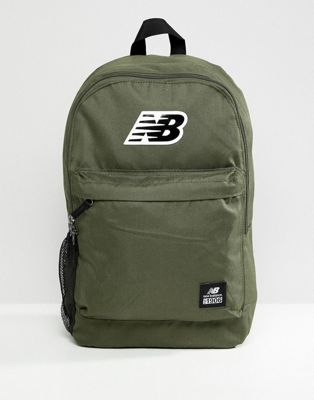 New Balance logo backpack in green 500387-363