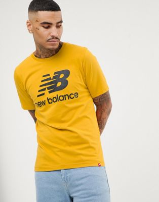 New Balance logo t-shirt in yellow MT83530_BR1