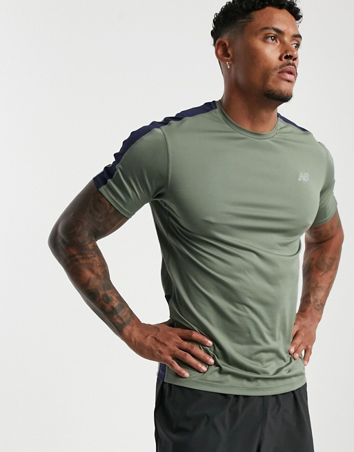 capítulo Analítico Reproducir  New Balance Mens Shirt Green green Running T-Shirts cloverlakeliving.com