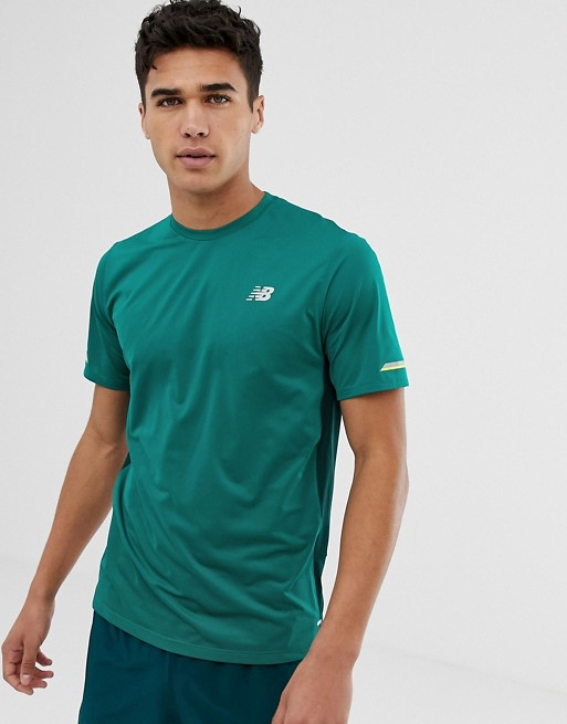 traidor retirada tira  New Balance Running Ice 2.0 T-Shirt In Teal | ASOS