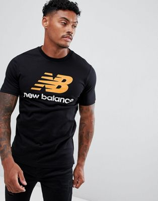 New Balance Stacked Logo T-Shirt In Black MT73587_BK