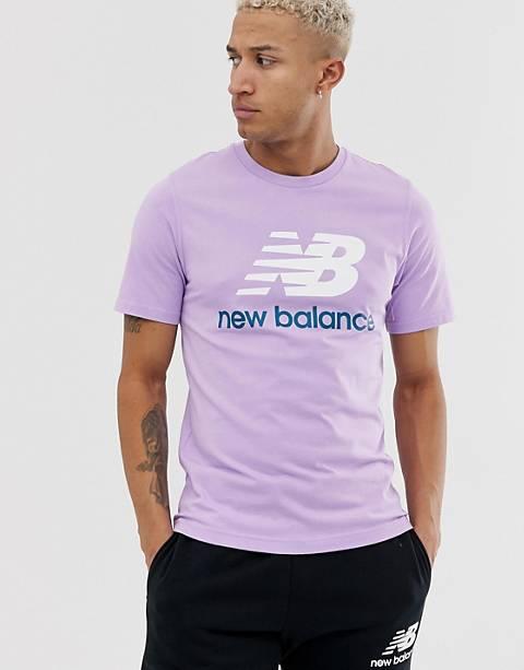New Balance – T-Shirt in Rosa mit großem Logo