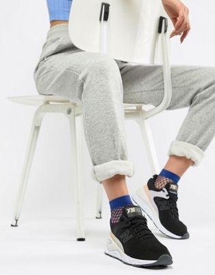 New Balance – X-90 – Sneaker in Schwarz und Rosa