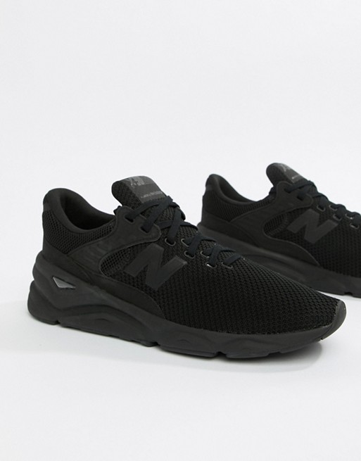 new arrival 9c083 61613 Image 1 of New Balance X90 Trainers In Black MSX90CRE