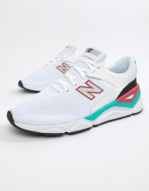 best service cbaaf 82f21 Image 1 of New Balance X90 Trainers In White MSX90CRA