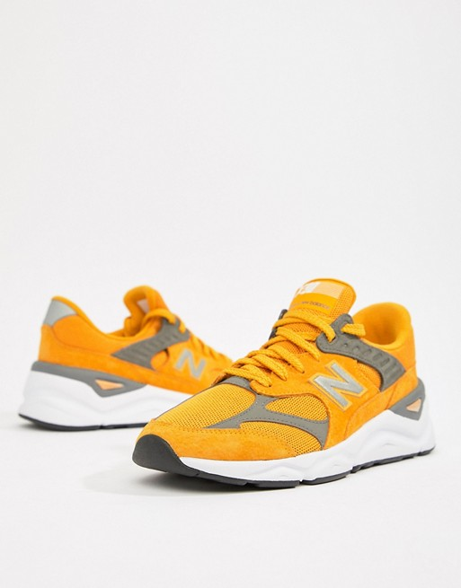 check out ac013 e5bdf Image 1 of New Balance X90 trainers in yellow MSX90RLC