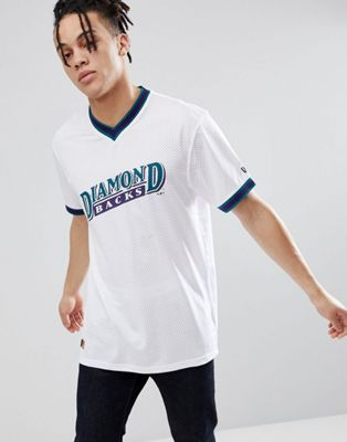 New Era - Mesh T-shirt met Arizona Diamond Backs-print in wit