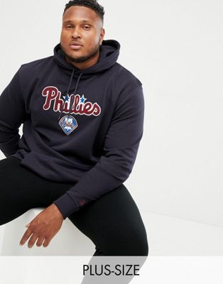 New Era MLB Philadelphia Phillies Hoodie With Woven Team Badge In Navy