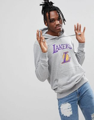 New Era - NBA LA Lakers hoodie in grijs