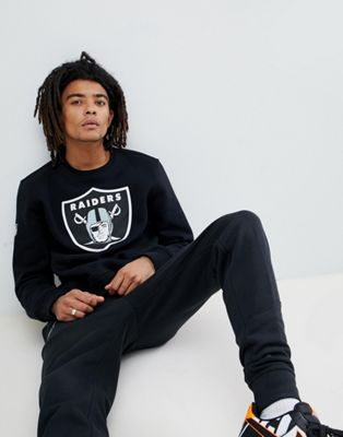 New Era - Oakland Raiders sweatshirt met groot logo in zwart