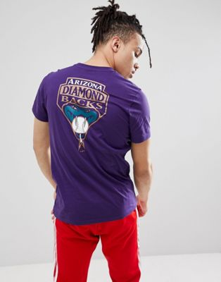 New Era - T-shirt met Arizona Diamond Backs-print in paars