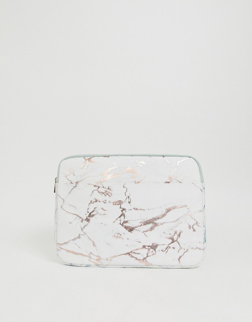 Image 1 of New Look 15'' laptop case in marble