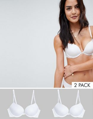 New Look 2 Pack Microfibre Push Up Bra