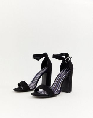 Image 1 of New Look Barely There Block Heel Sandal