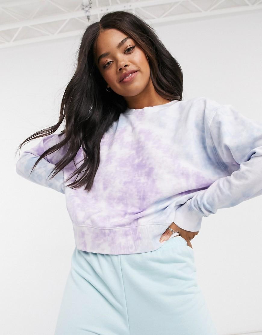 New Look— Batikfarvet sweatshirt i flere farver-Multifarvet