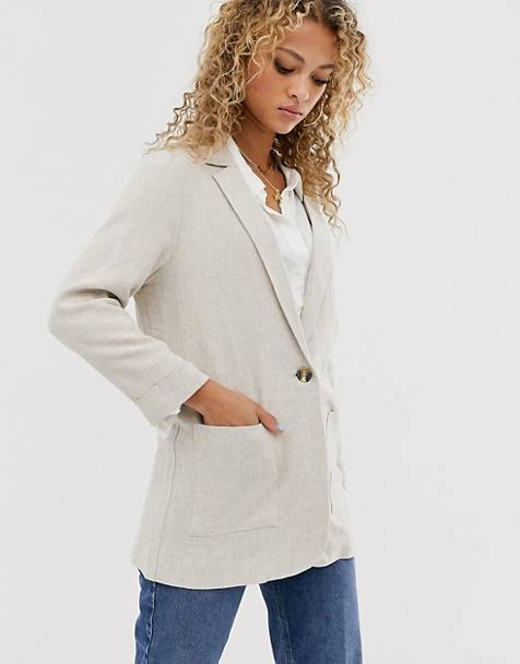 New Look blazer in stone