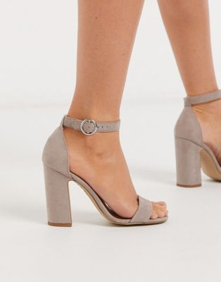 Image 1 of New Look block heel sandal in stone