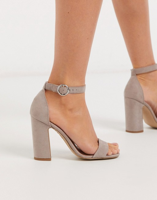 New Look block heel sandal in stone