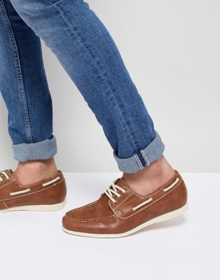 New Look Boat Shoes In Tan