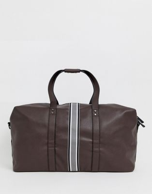 New Look carryall with stripe detail in brown