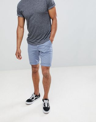 New Look Chino Shorts In Light Blue