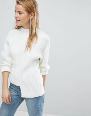 New Look Chunky Rib Step Hem Jumper