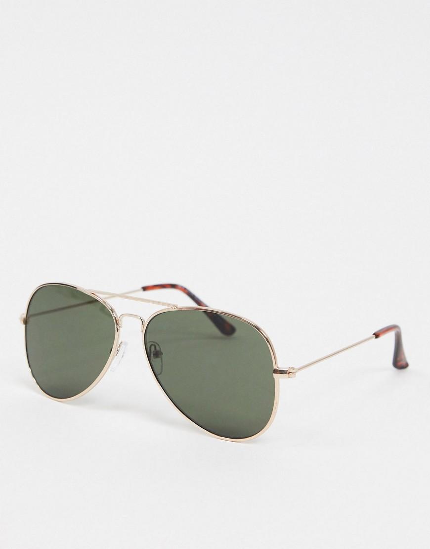 New Look – Goldene Pilotensonnenbrille | Accessoires > Sonnenbrillen > Pilotenbrille | New Look
