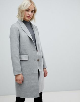 Image 1 of New Look Gray Tailored Coat