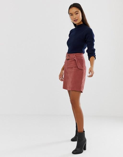 New Look - Jupe en velours côtelé avec boucles