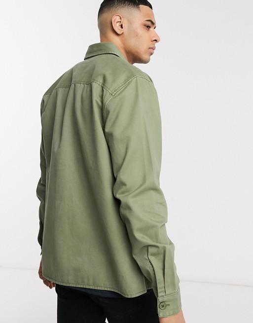 New Look – Koszula typu overshirt z dwiema kieszeniami w kolorze khaki