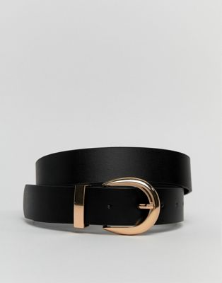Image 1 of New Look leather belt in black