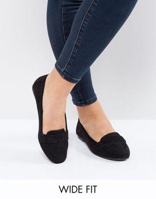 Bild 1 von New Look – Loafer in Wildlederoptik, weiter Passform