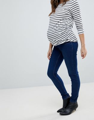 New Look Maternity Over The Bump Dark Blue Jegging