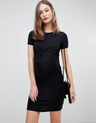 New Look Maternity Twist Front Bodycon Dress