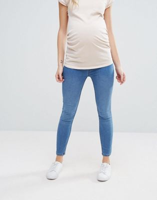 New Look Maternity Under The Bump Blue Jegging