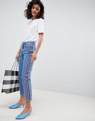New Look - Mom jeans con riga laterale