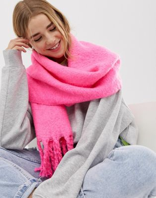 Image 1 of New Look neon plain scarf in pink