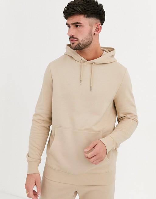New Look overhead hoodie in stone