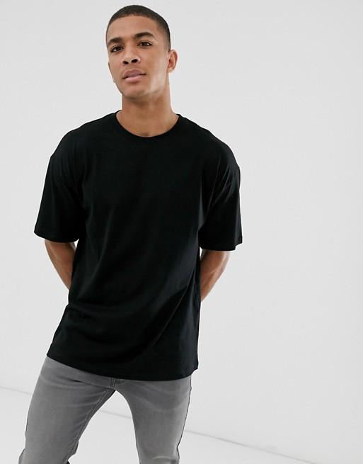 New Look – Oversize-T-Shirt in Schwarz