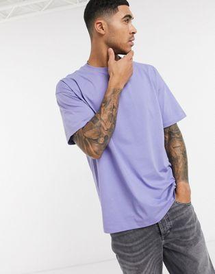 New Look – Oversize-T-Shirt in Violett