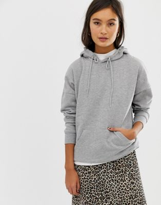 New Look oversized hoody in gray