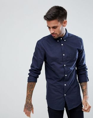 New Look Oxford Shirt In Navy