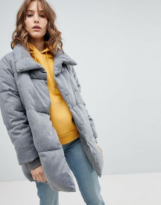New Look Padded Quilted Coat