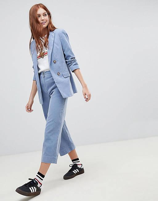 New Look - Pantalon court d'ensemble en velours côtelé