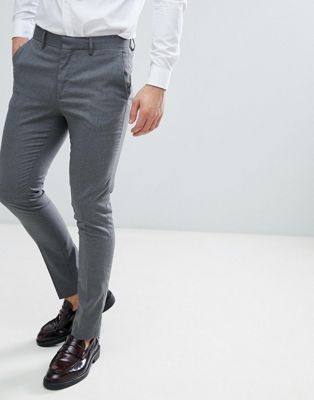 New Look - Pantalon de mariage ajusté  - Gris moyen