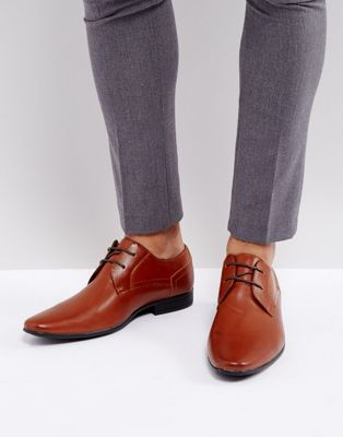 New Look Perforated Derby Shoes In Brown