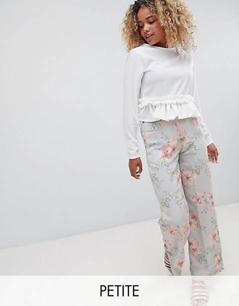 New Look petite floral wide leg pants
